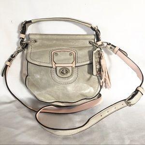 Coach Willis crossbody bag purse color block gray